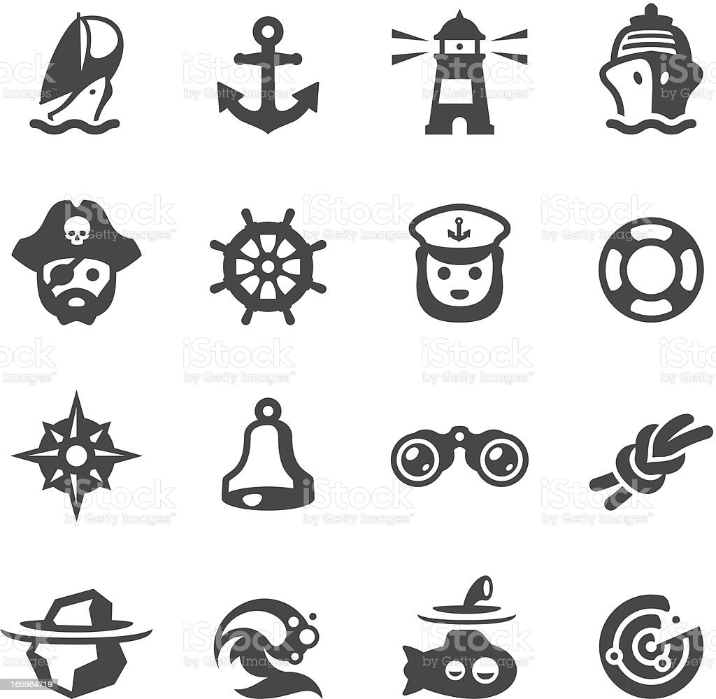 Mobico icons - Nautical vector art illustration
