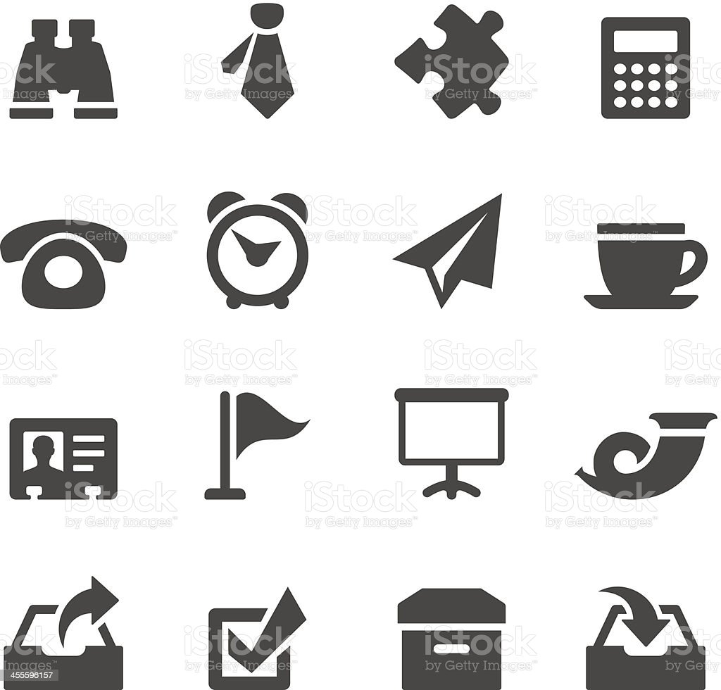 Mobico icons — Office stuff vector art illustration