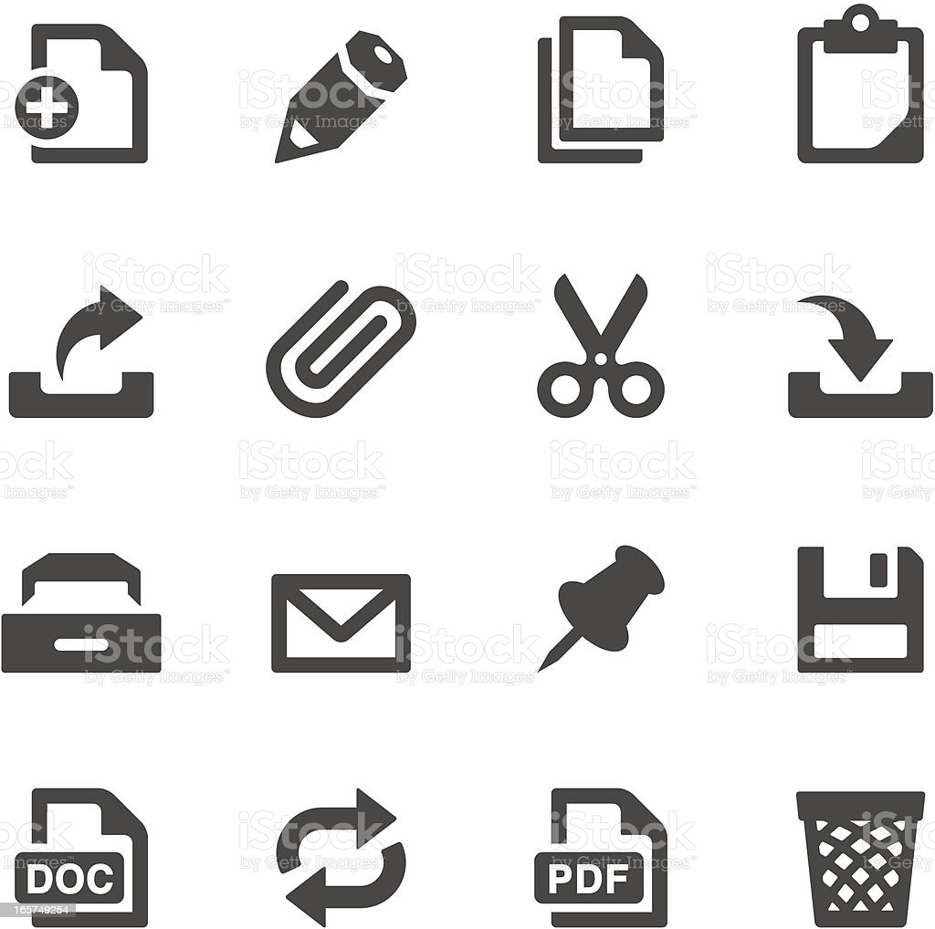 Mobico icons — Paperwork royalty-free stock vector art