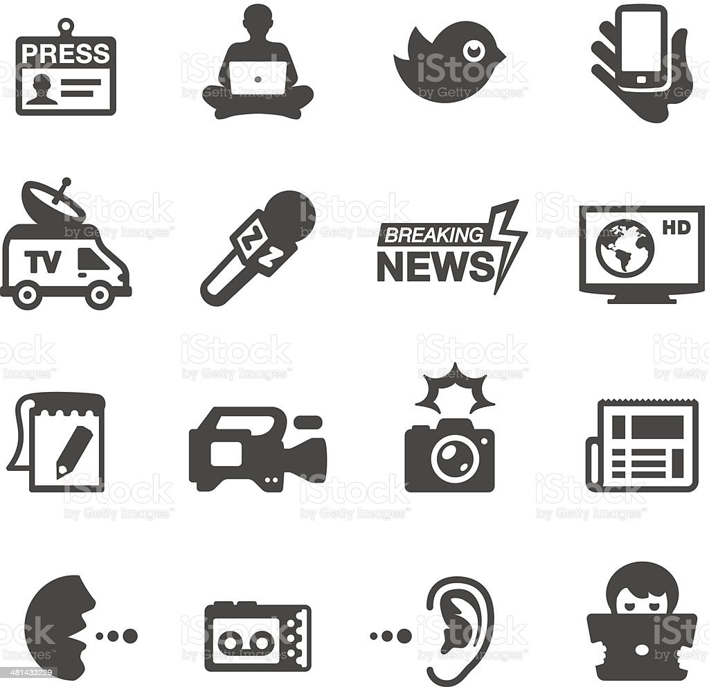 Mobico icons - Press & News vector art illustration