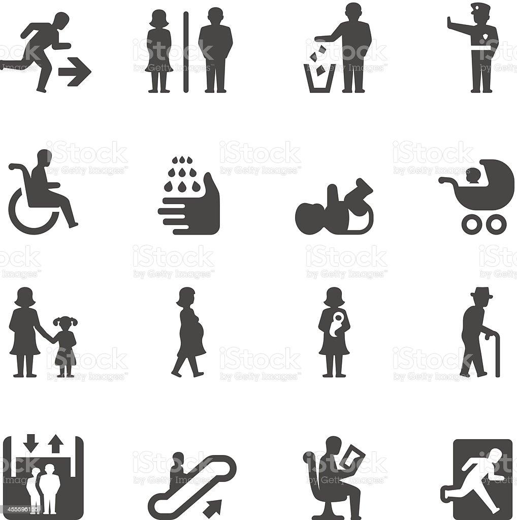 Mobico icons — Public places vector art illustration