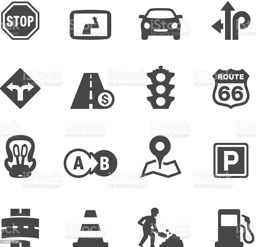 Mobico icons - Road Trip royalty-free stock vector art