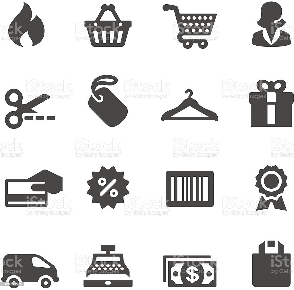 Mobico icons — Shopping vector art illustration