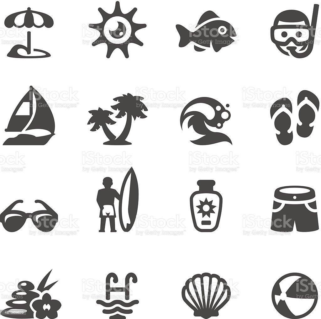 Mobico icons - Sun Beach vector art illustration