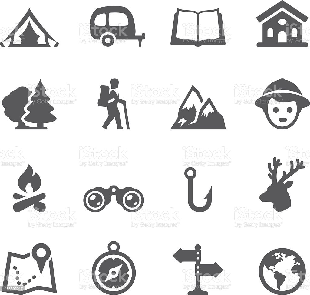 Mobico icons - Tourism and Camping vector art illustration