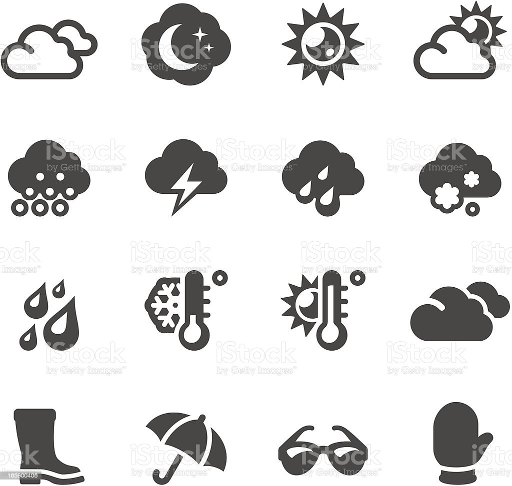 Mobico icons - Weather royalty-free stock vector art