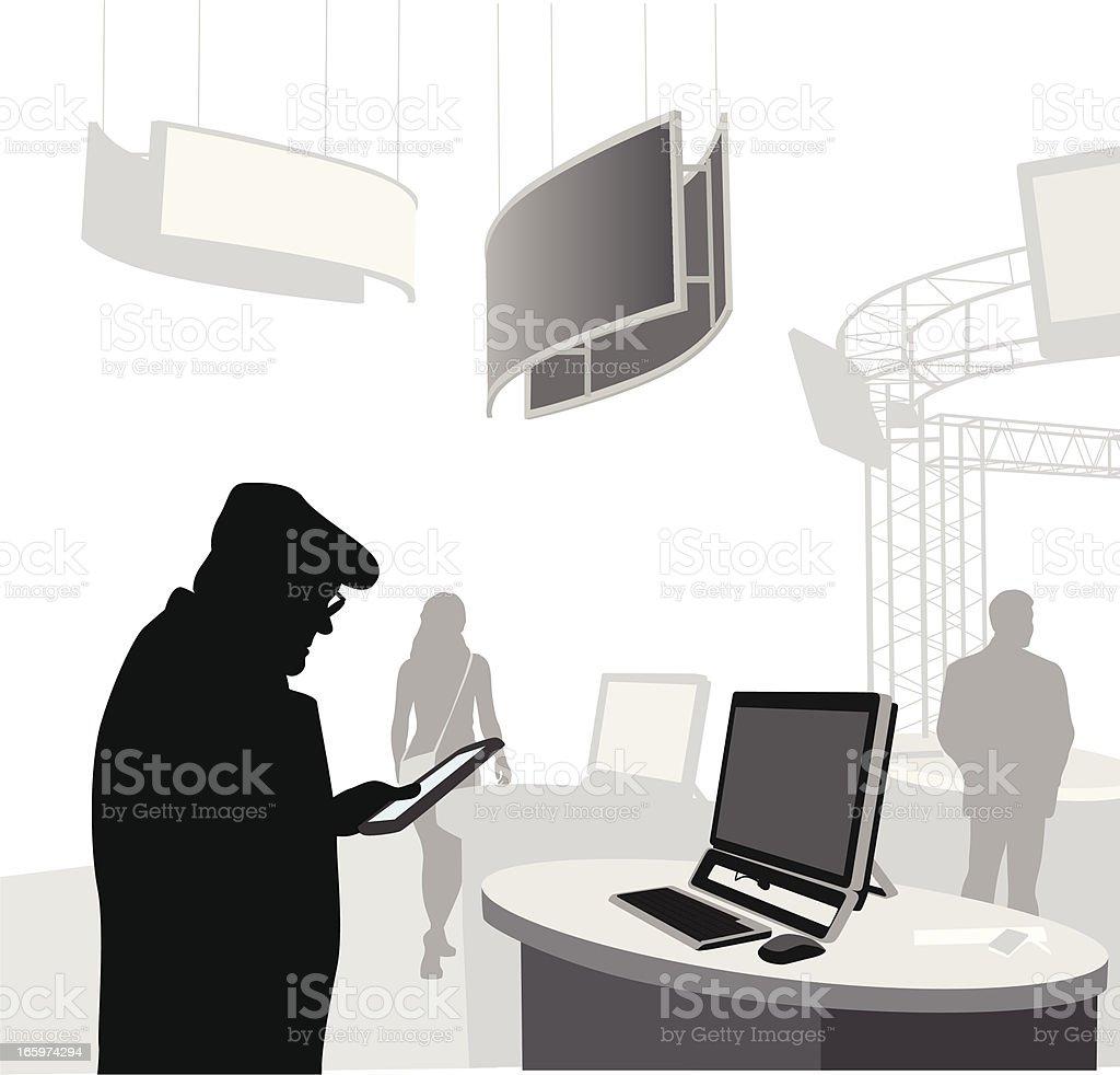 Mobile Age Vector Silhouette vector art illustration