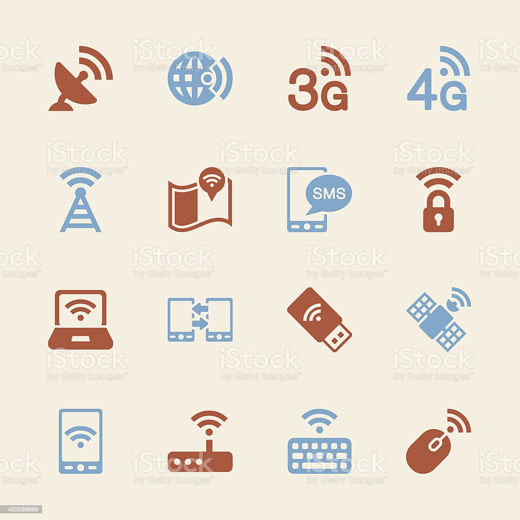 Mobile and Wireless Technology  Icons - Color Series   EPS10 royalty-free stock vector art