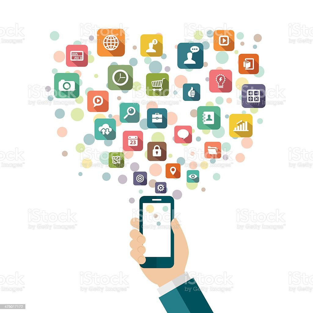 Mobile application concept vector art illustration