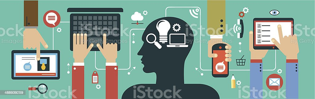 mobile apps concept vector art illustration