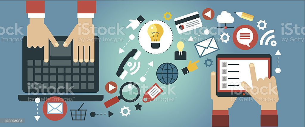 mobile apps concept royalty-free stock vector art