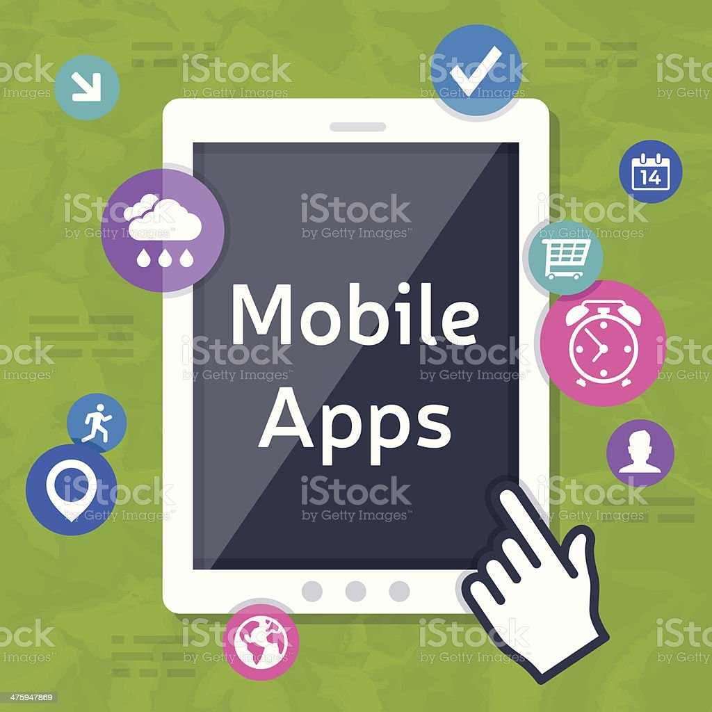 Mobile Apps vector art illustration