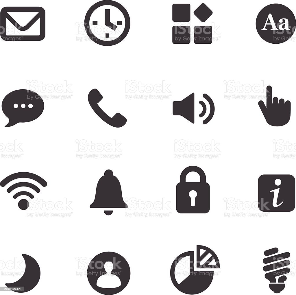 Mobile control Icons - Acme Series vector art illustration