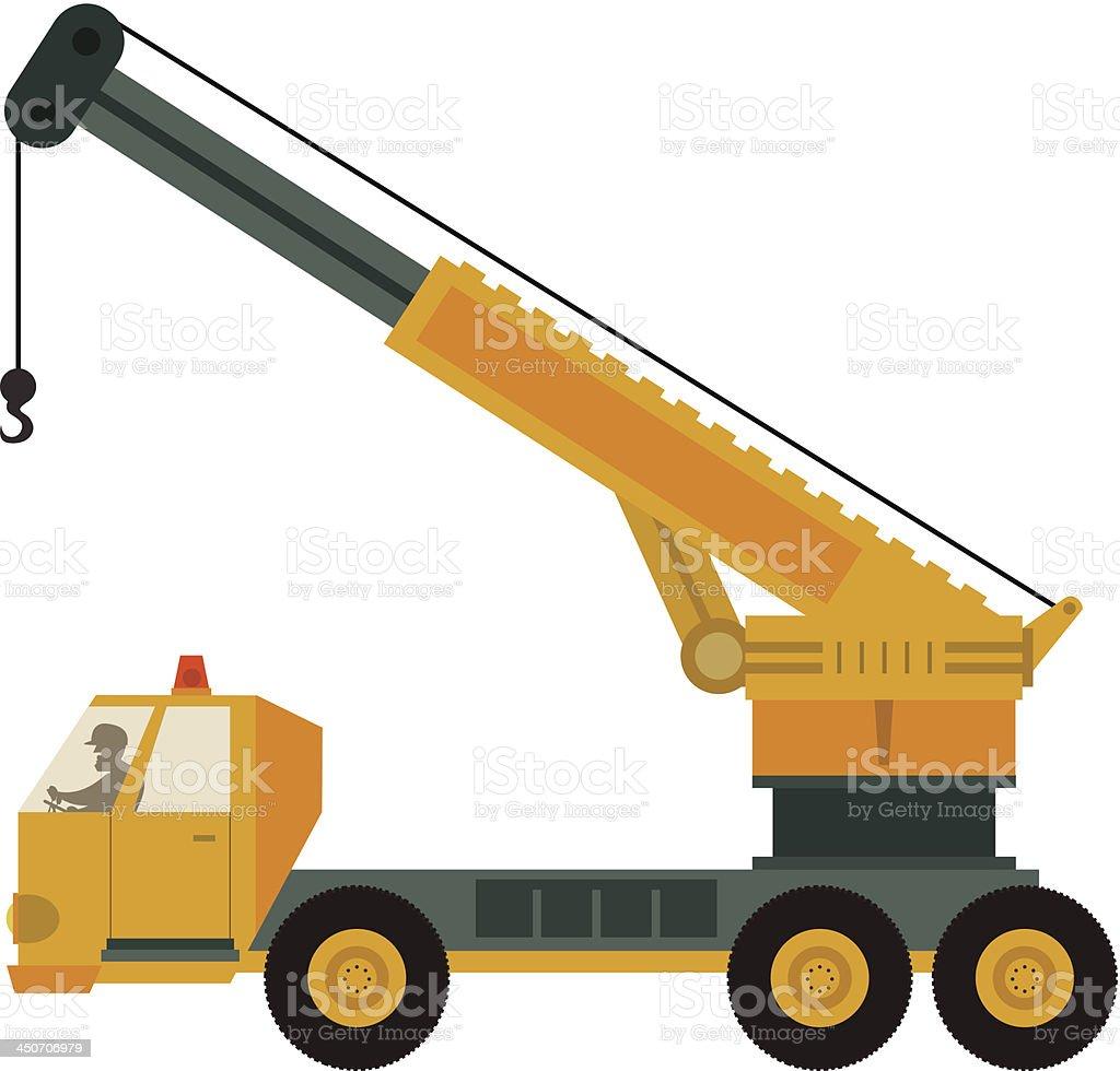 Mobile Crane royalty-free stock vector art