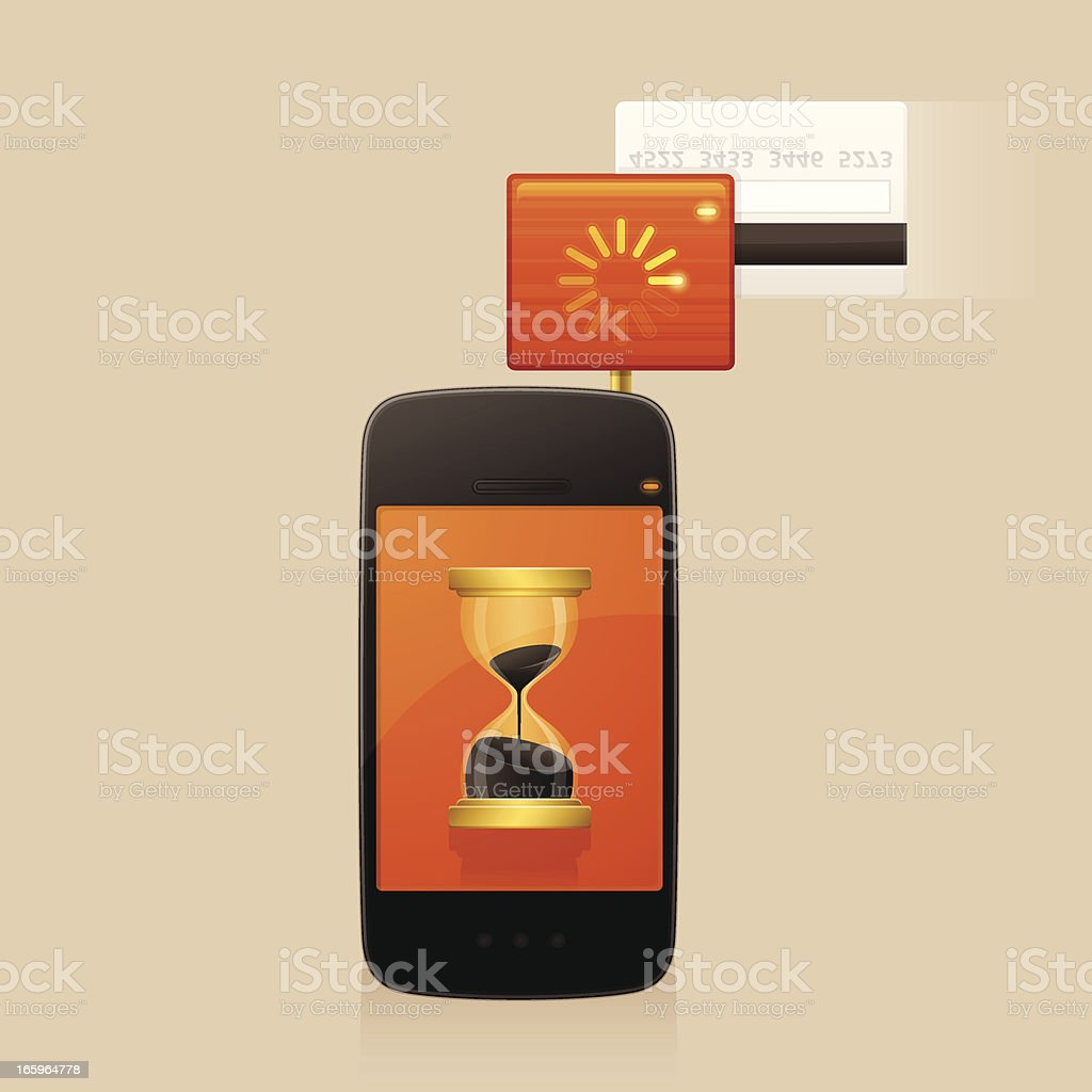 Mobile Credit Card Reader royalty-free stock vector art