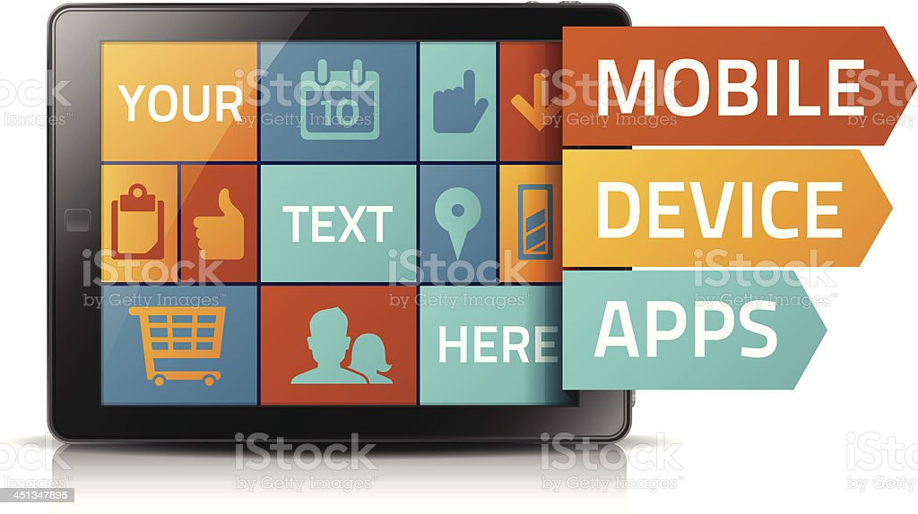 Mobile Device Concept royalty-free stock vector art