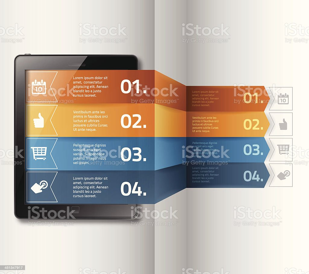 Mobile Device Options royalty-free stock vector art