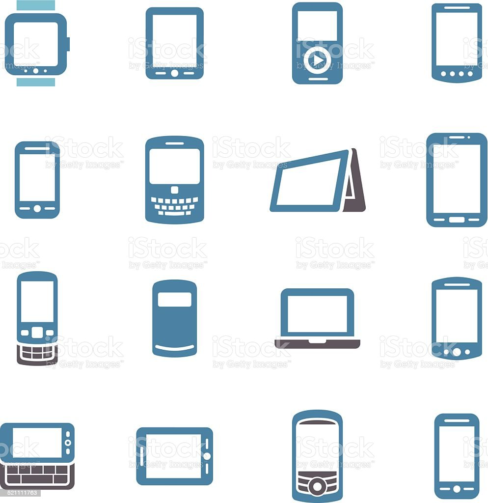Mobile Devices Icons - Conc Series vector art illustration