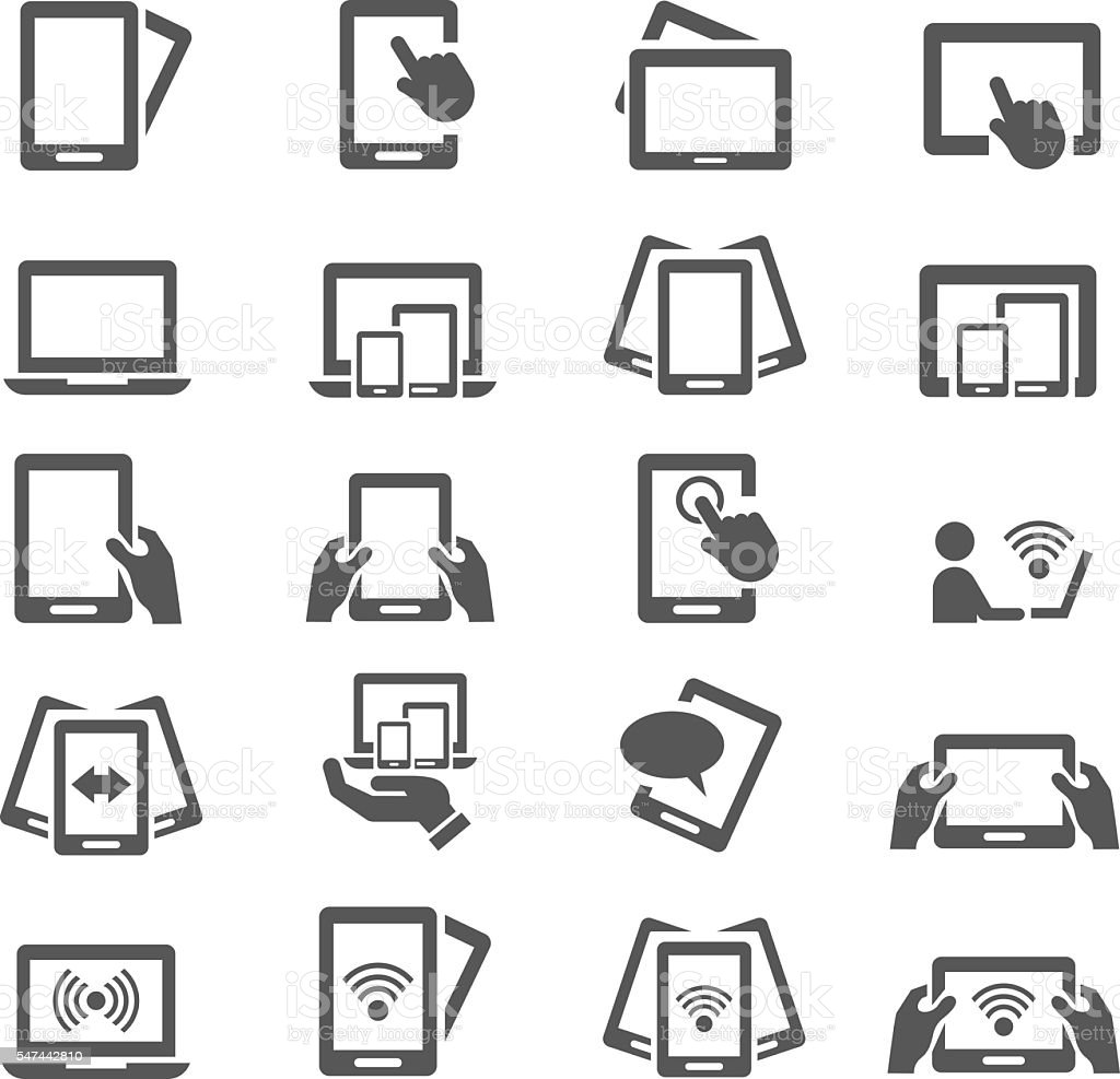 Mobile devices vector art illustration