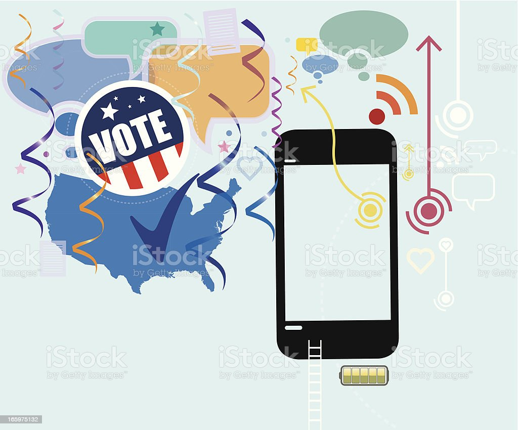 Mobile Election results royalty-free stock vector art