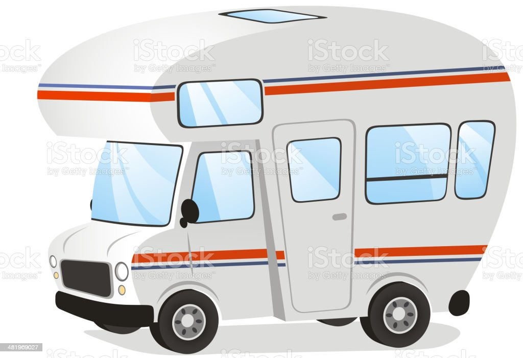 Mobile home Motorhome Caravan Trailer Vehicle royalty-free stock vector art