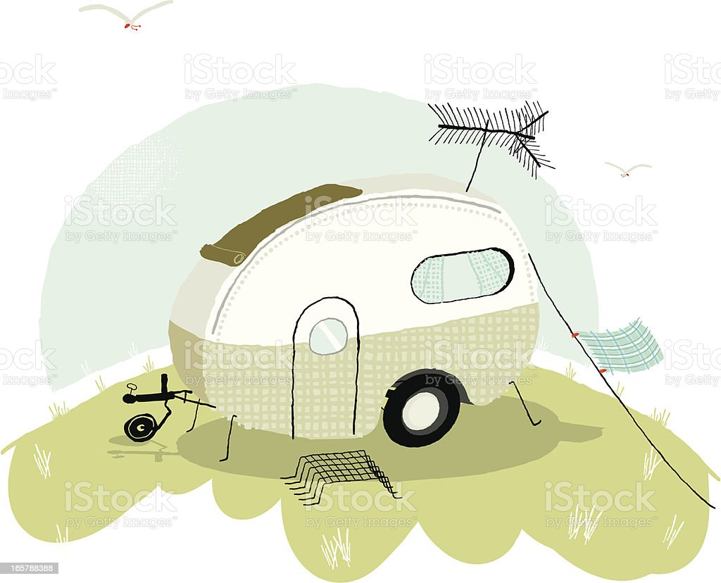 Mobile home royalty-free stock vector art
