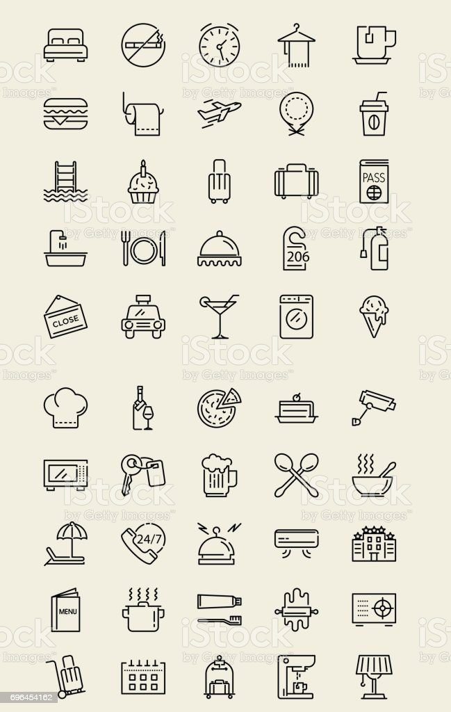 Mobile Icon - Hotel vector art illustration