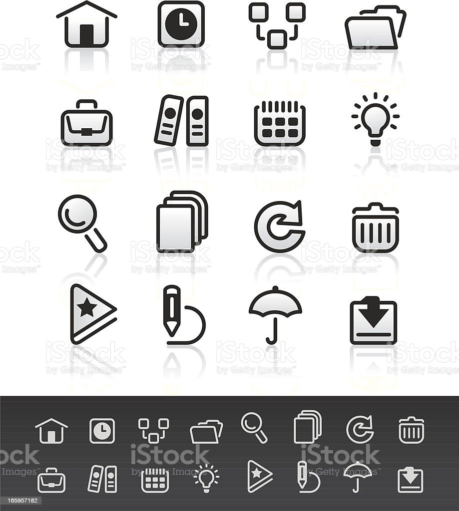 Mobile Icons 3 royalty-free stock vector art