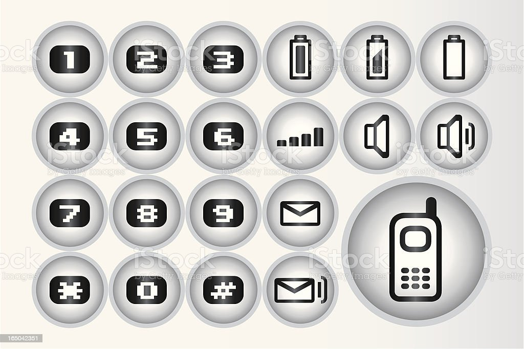 Mobile icons (Vector) royalty-free stock vector art