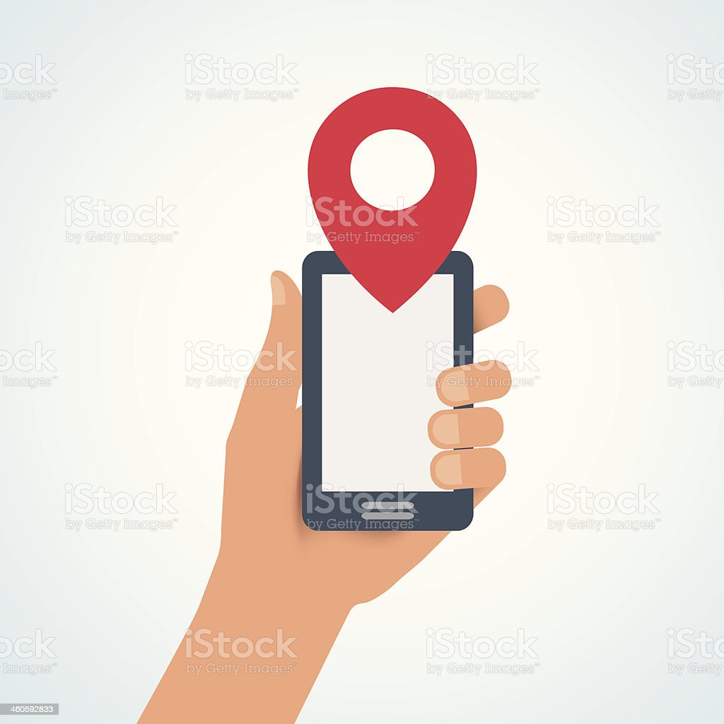 Mobile location royalty-free stock vector art