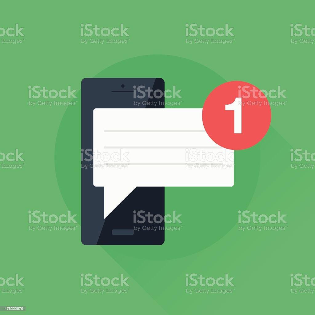Mobile Message vector art illustration