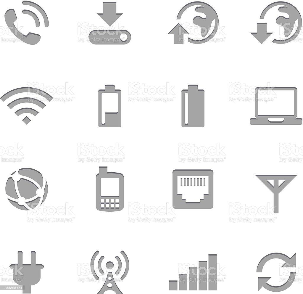 Mobile Network Icons  | Letterpress Series vector art illustration