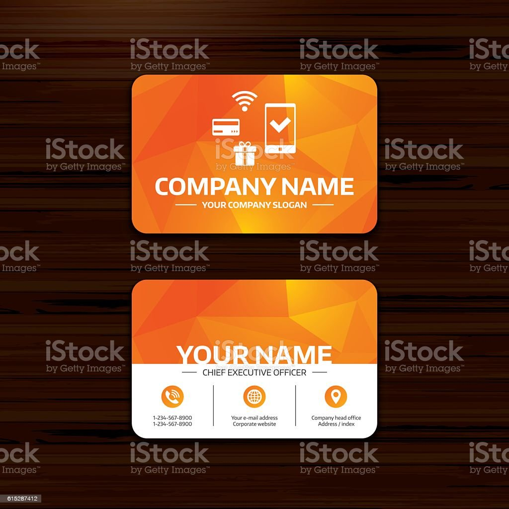Mobile payments icon. Smartphone, credit card. vector art illustration