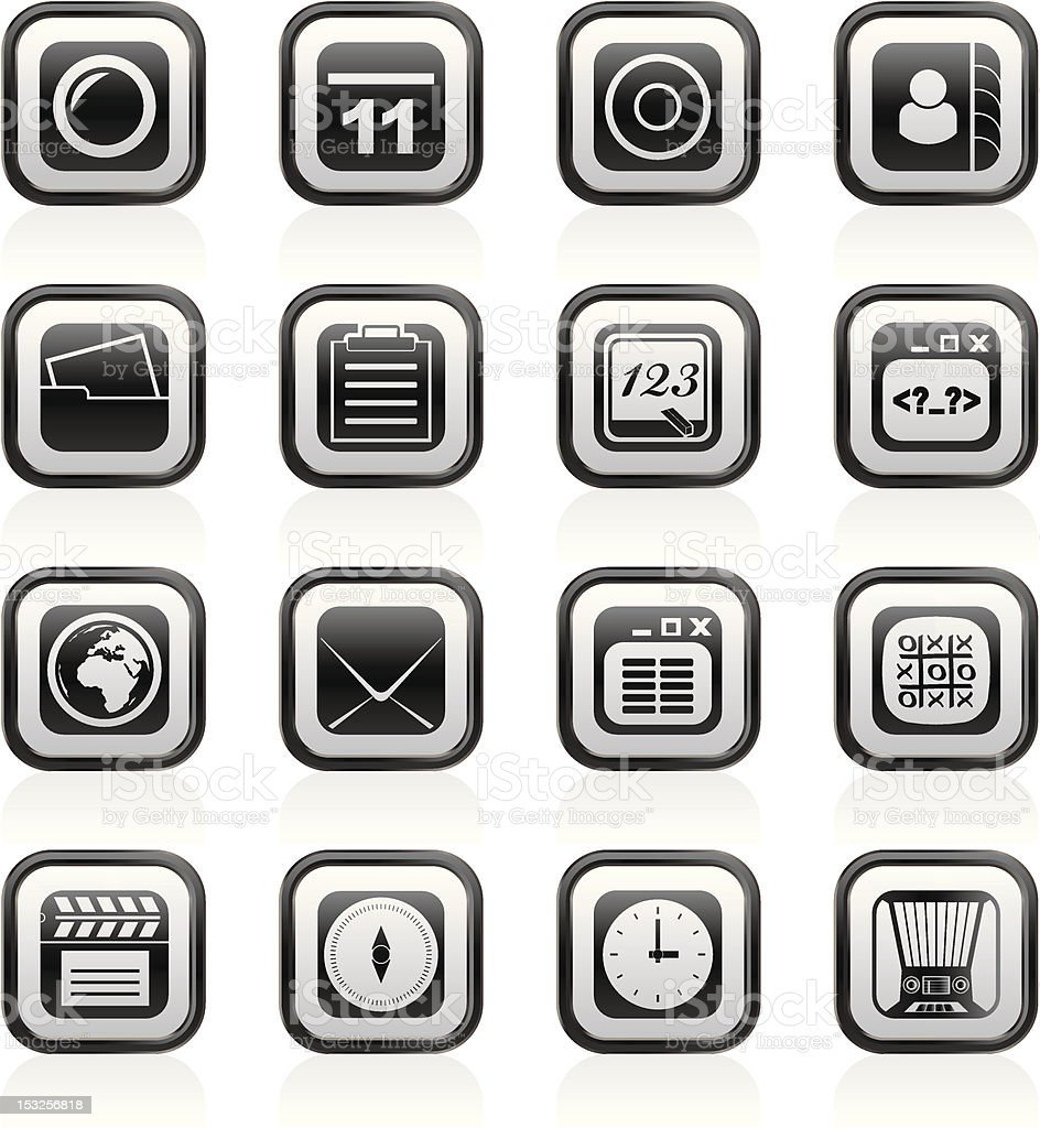 Mobile Phone and communication icons royalty-free stock vector art