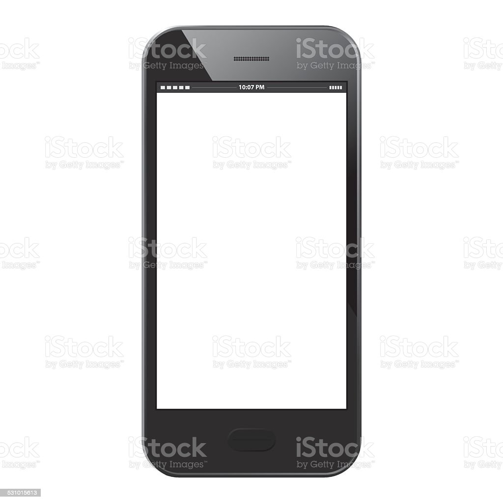 Mobile Phone - Black vector art illustration