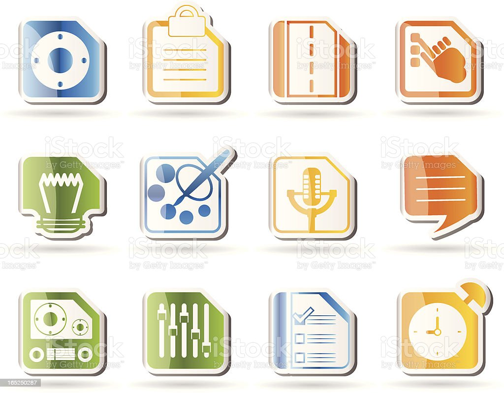 Mobile Phone, Computer and Internet Icons royalty-free stock vector art