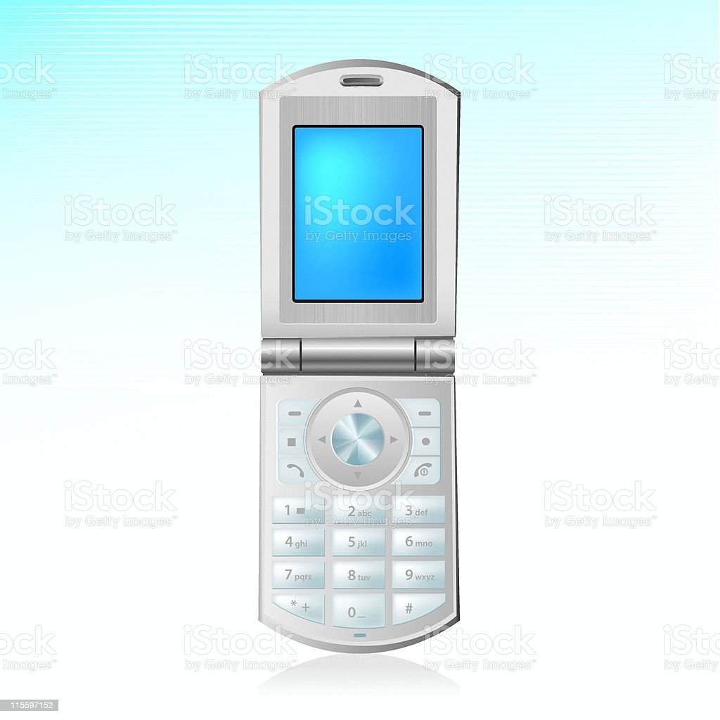 Mobile Phone Icon vector art illustration