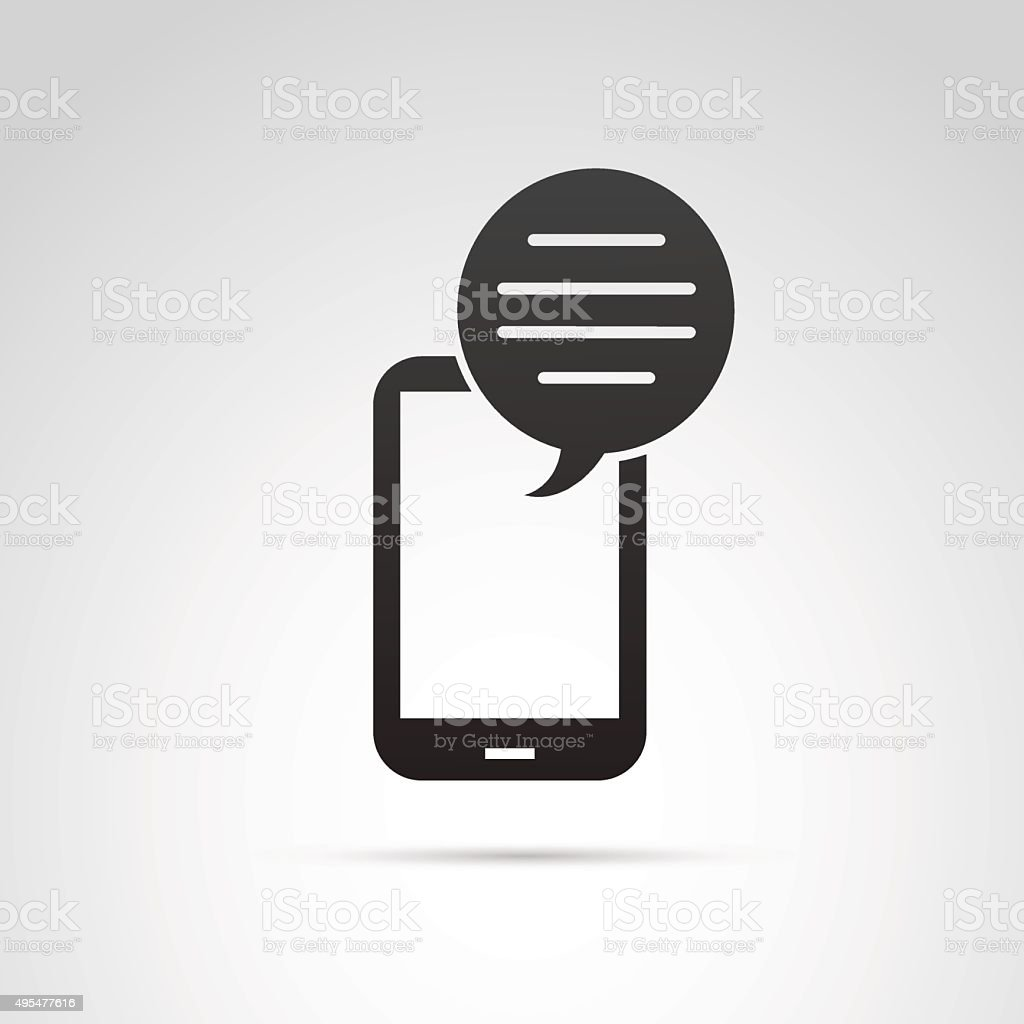 Mobile phone icon. vector art illustration