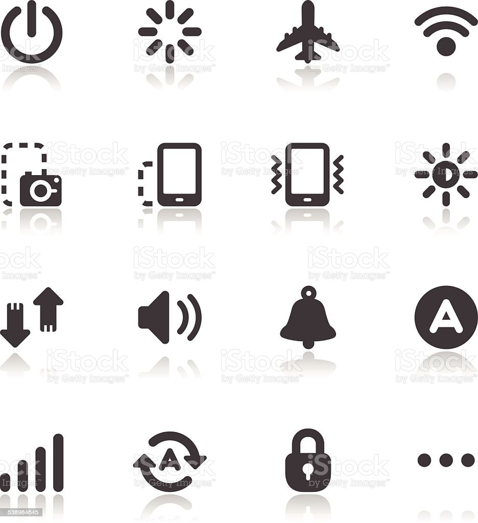 Mobile Phone Icons for application vector art illustration