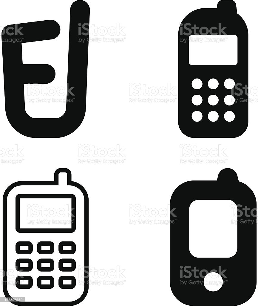 Mobile phone icons royalty-free stock vector art