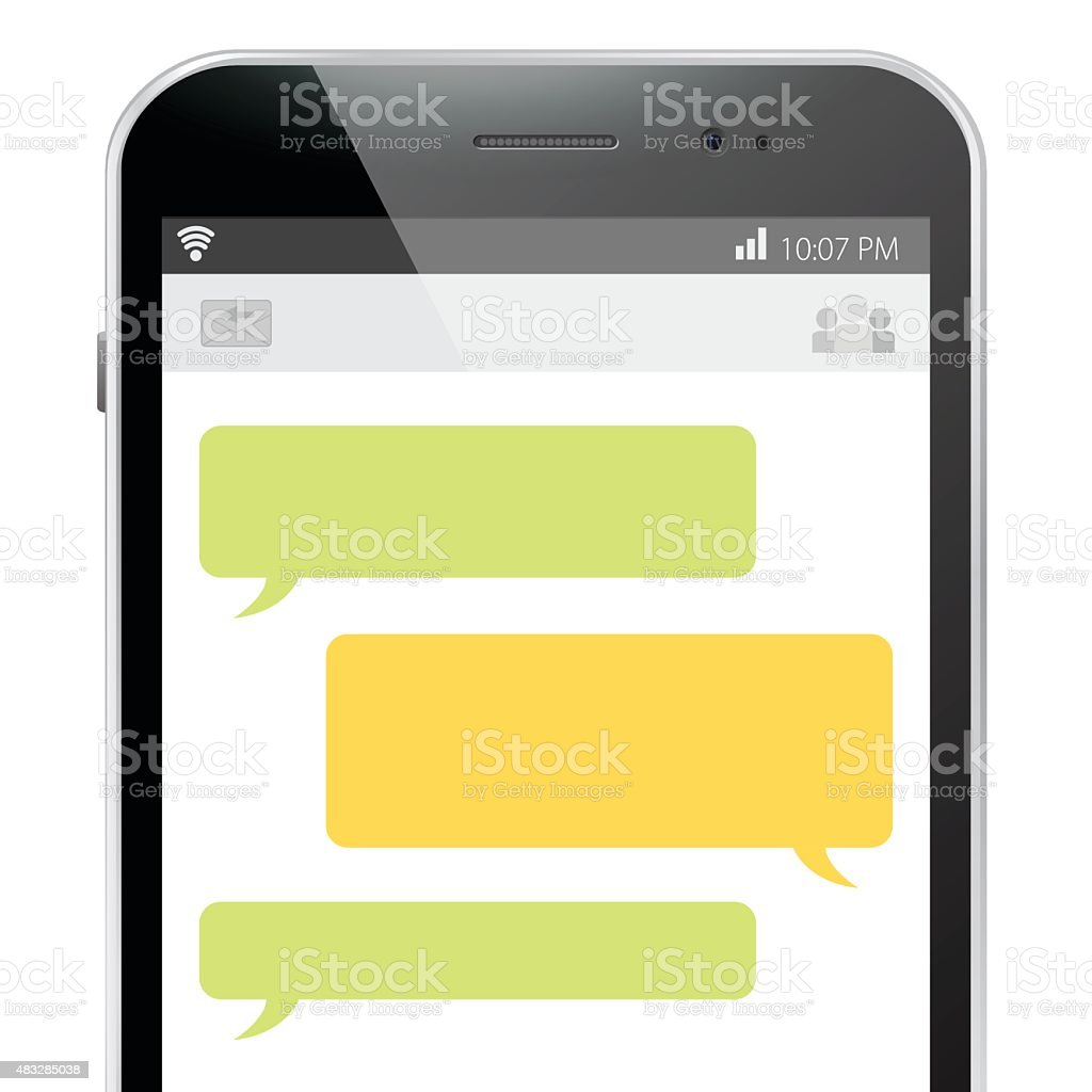 Mobile Phone Message Screen. vector art illustration