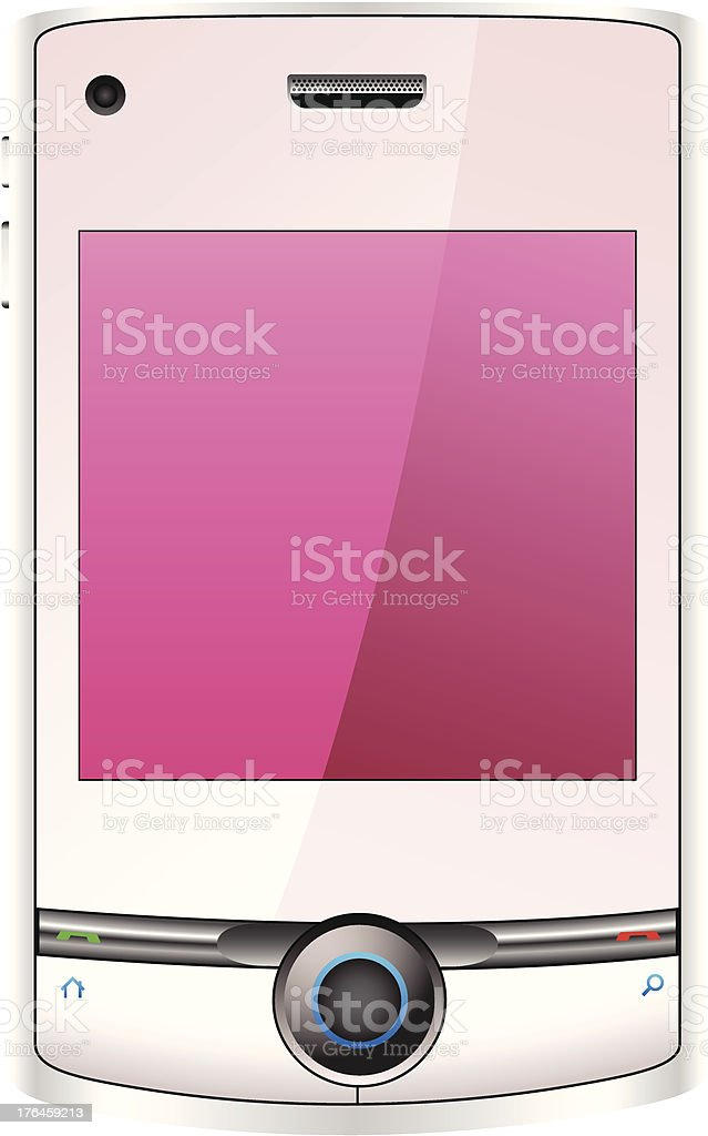 Mobile phone pink royalty-free stock vector art