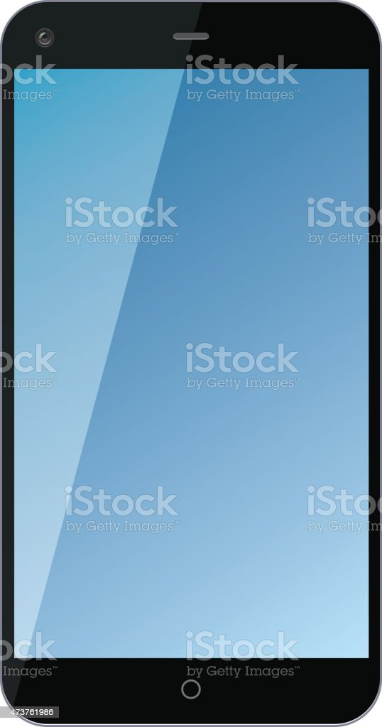 Mobile phone vector art illustration
