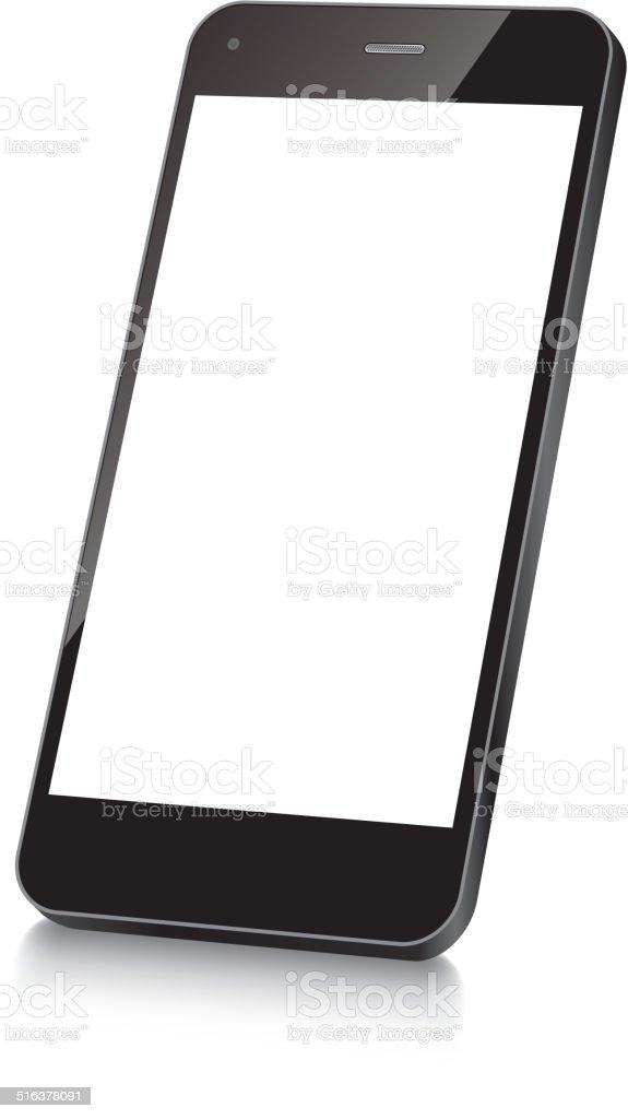Mobile phone vector art illustration