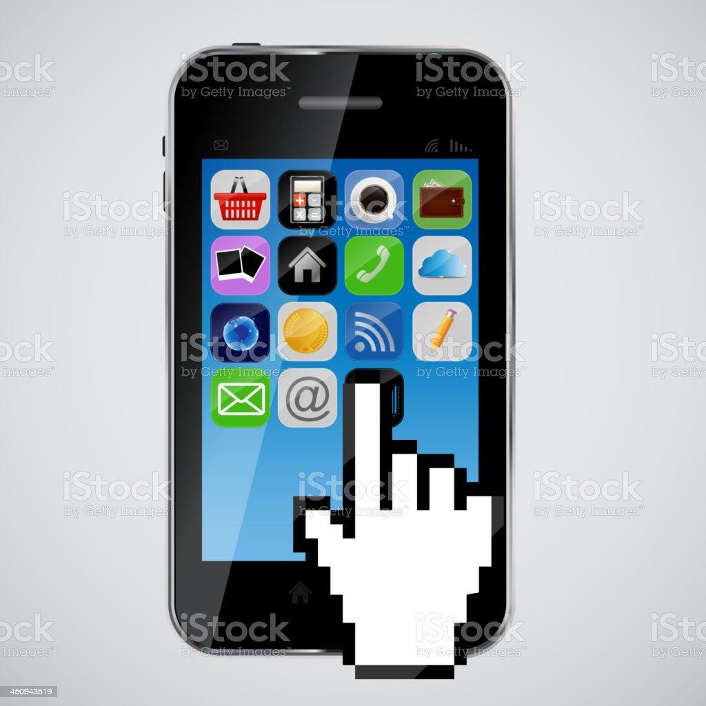mobile phone  vector illustration royalty-free stock vector art