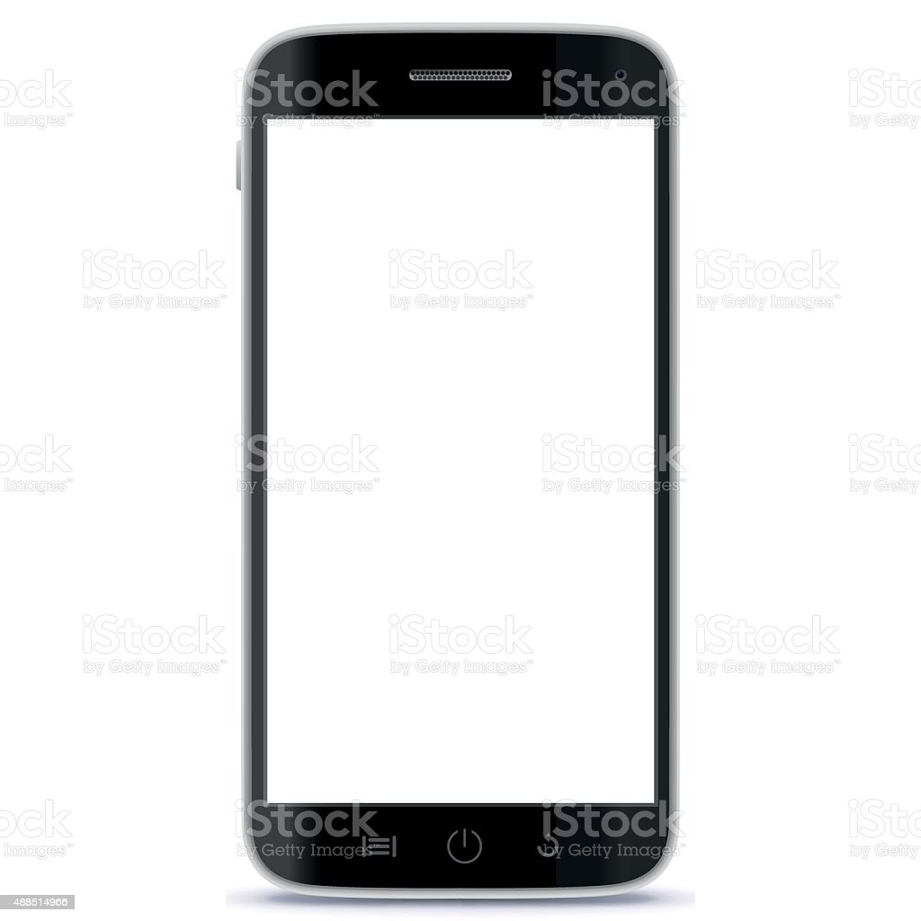 Mobile Phone Vector Illustration. vector art illustration