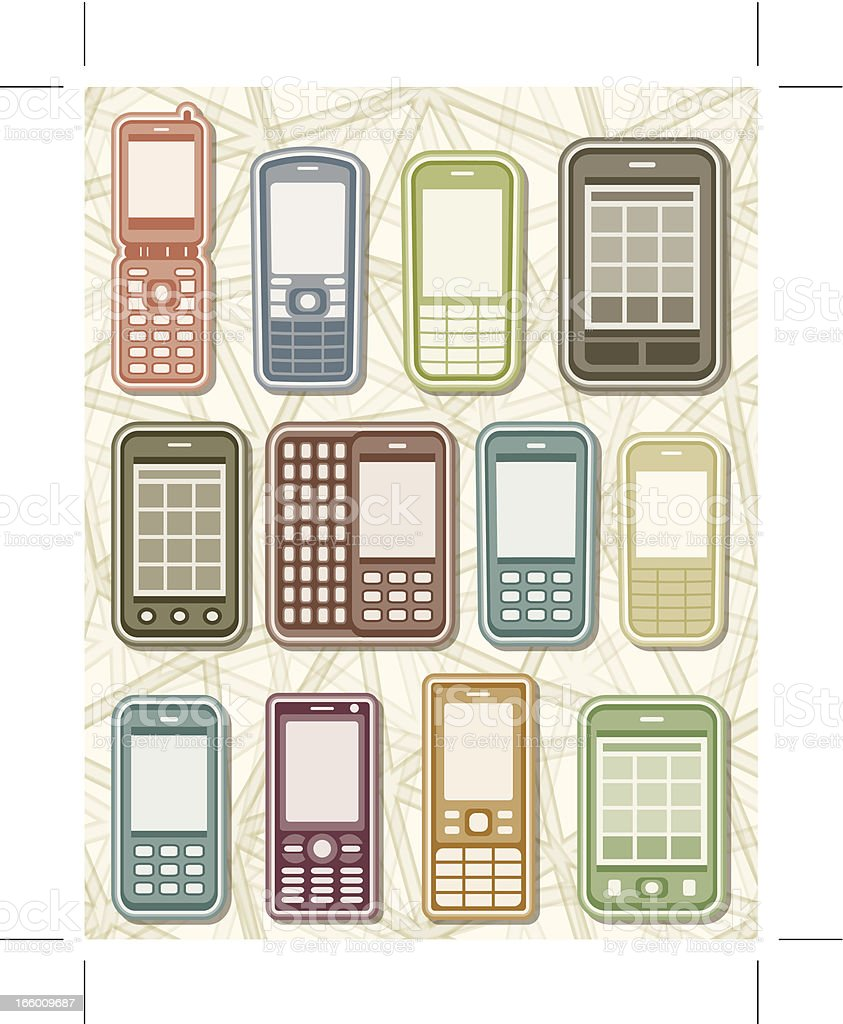 mobile phones royalty-free stock vector art