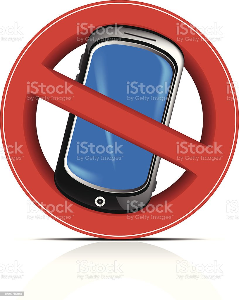 Mobile Prohibited royalty-free stock vector art