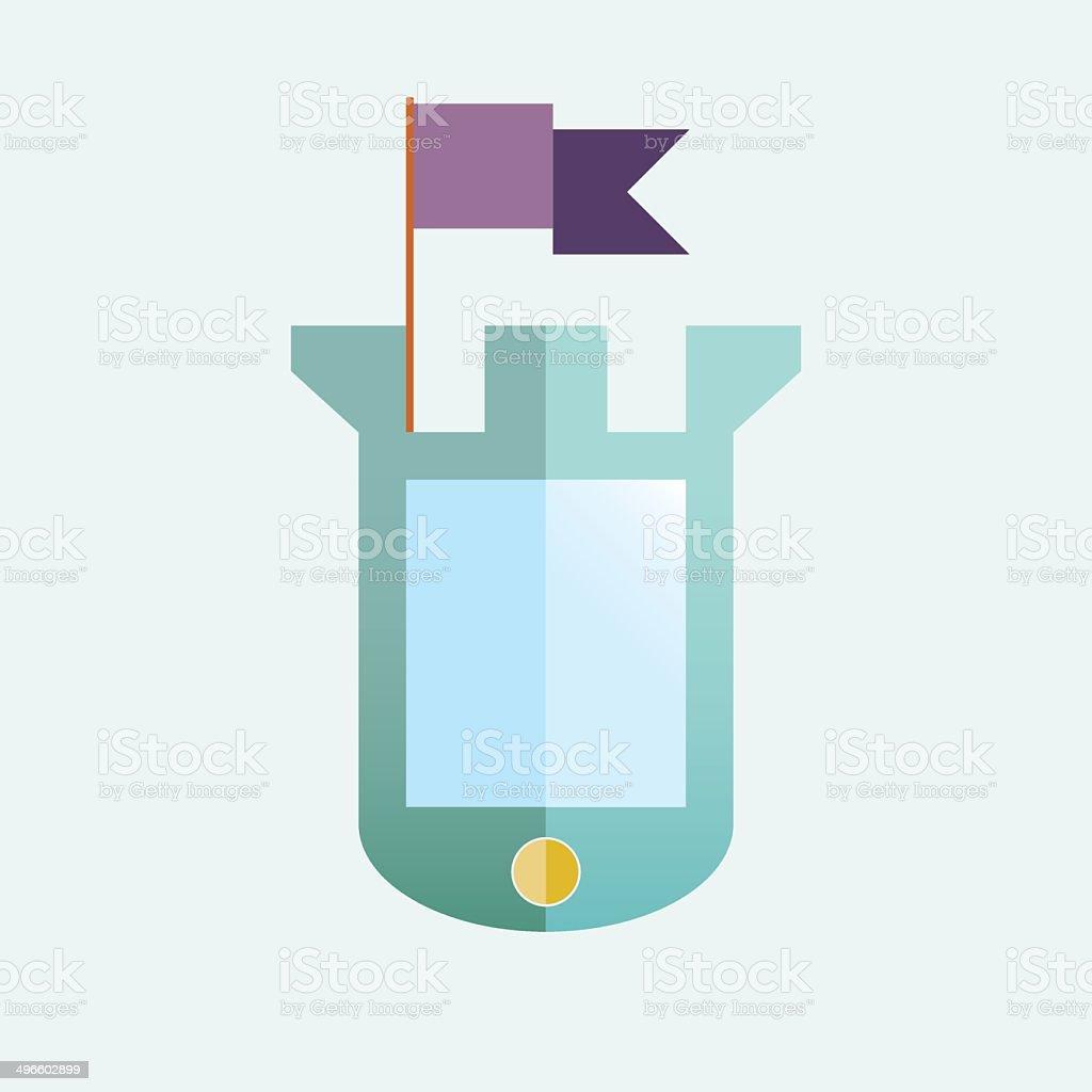 Mobile protection vector art illustration