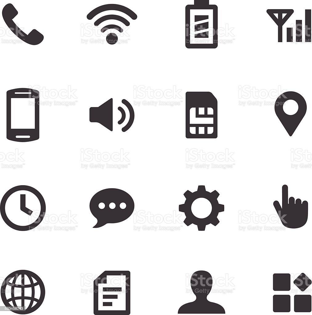 Mobile Setting Icons - Acme Series vector art illustration